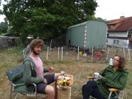 Schwärzdorf - Landvergnügen auf Demeterbauernhof unser Frühstücksplatz